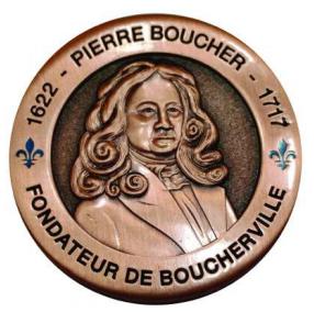 medaille Boucherville 350 avers