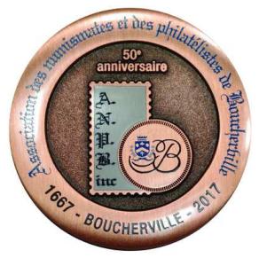 medaille Boucherville 350 revers
