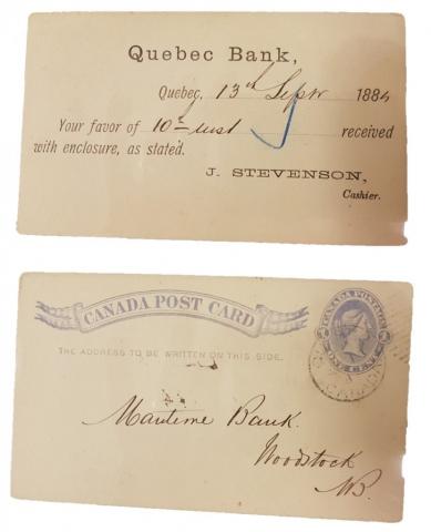 Carte postale (Maritime Bank)